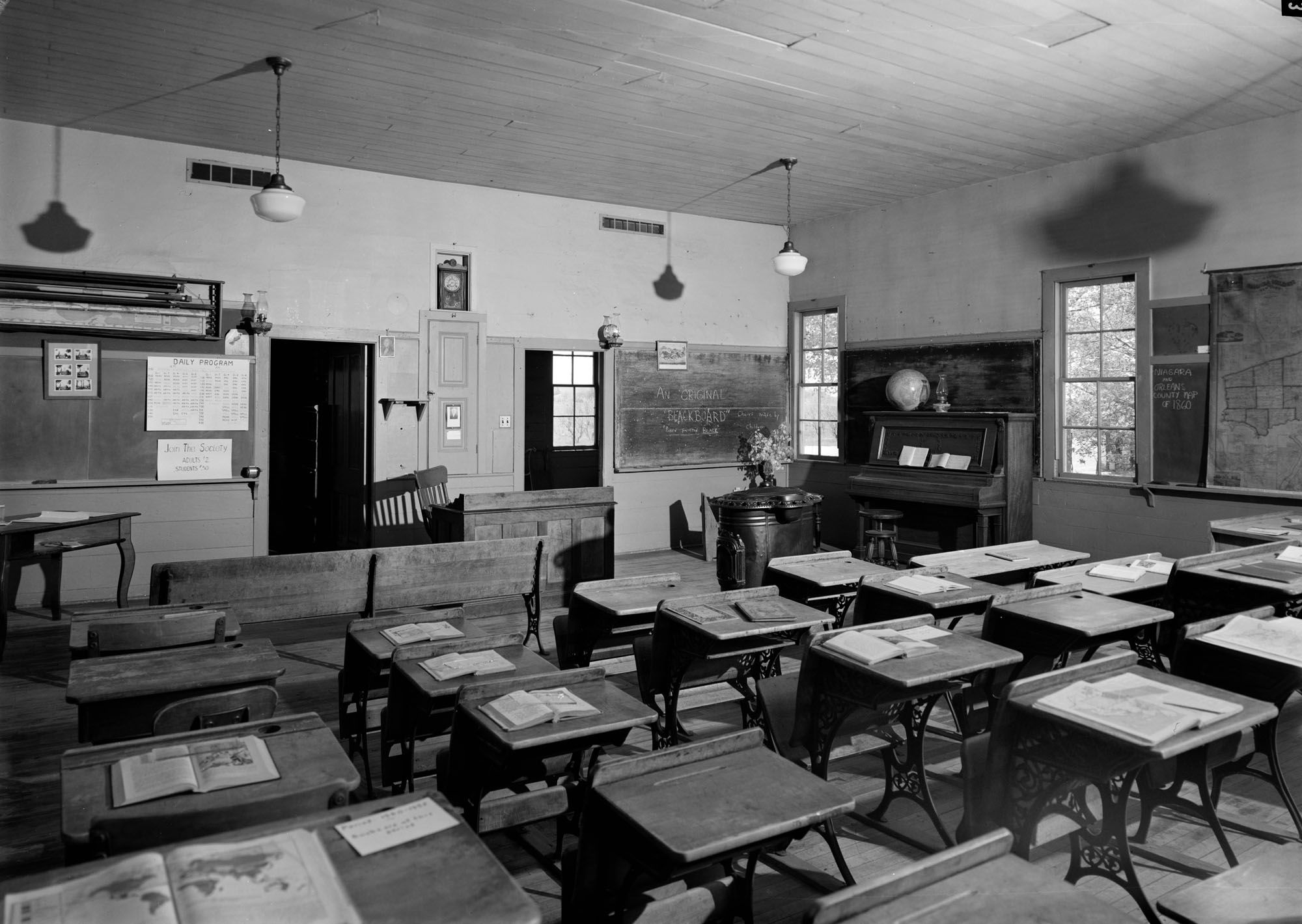 VIEW OF SCHOOLROOM – Cobblestone Schoolhouse, Ridge Road ...