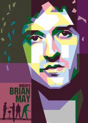 Queen Brian May #Vector #Design #Poster #Illustration #Background | Displate thumbnail