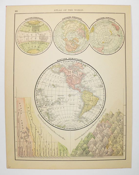 Antique world map 1887 western hemisphere map world globe map antique world map 1887 western hemisphere map world globe map unique office art gift gumiabroncs Image collections