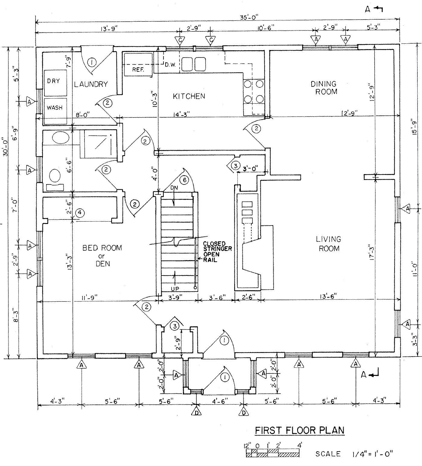 Floor Plan For Saltbox House