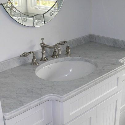 Carrera Marble Vanity Top Design Ideas, Pictures, Remodel, and Decor