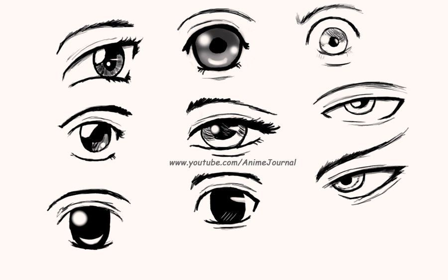 How To Draw Cute Anime Eyes By Ghap4a 900x563
