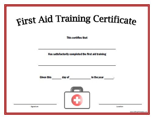 Pin By Diane On Phys Ed Training Certificate Certificate Templates First Aid