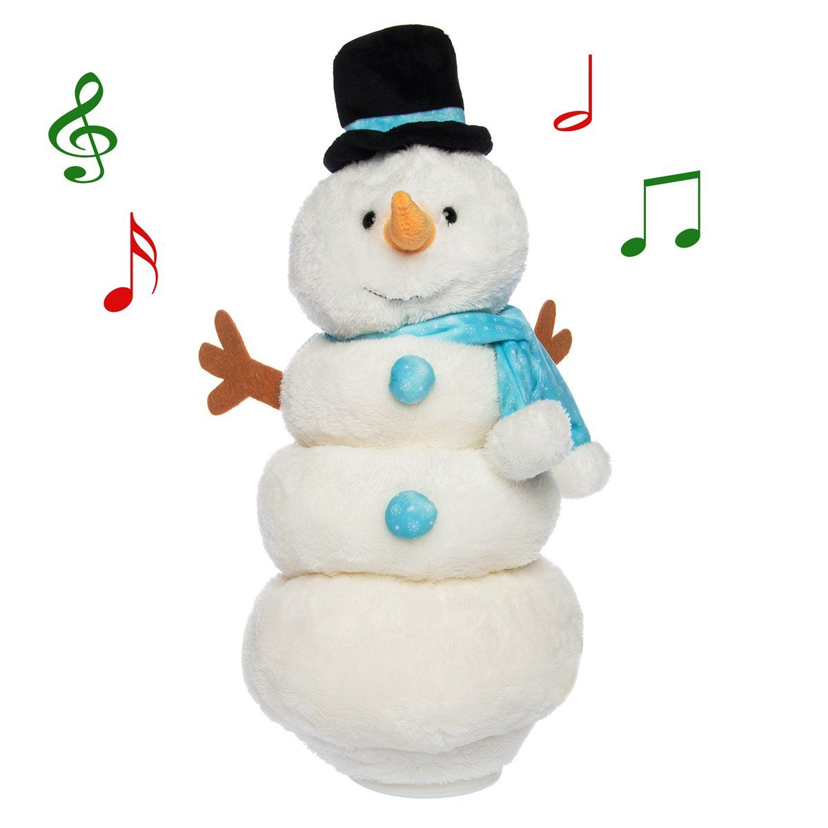 Simply Genius Singing Dancing Snowman Animated Plush Toy Doll