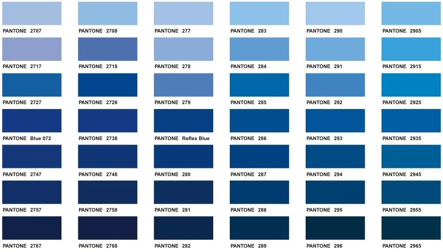 Blue Pantone Color Chart Color Blue Pinterest Color