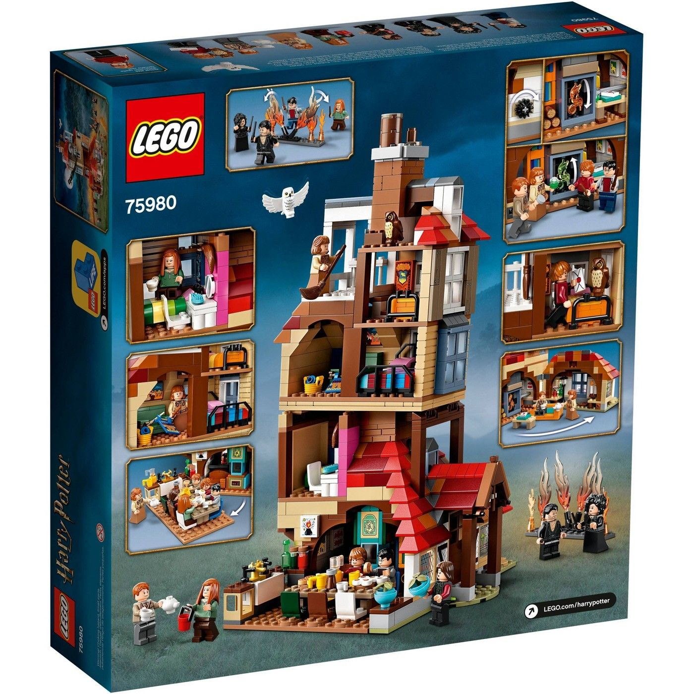Lego Harry Potter Attack On The Burrow Weasley S Family Dollhouse Building Toy For Kids 75980 In 2021 Harry Potter Lego Sets Lego Harry Potter Harry Potter Toys