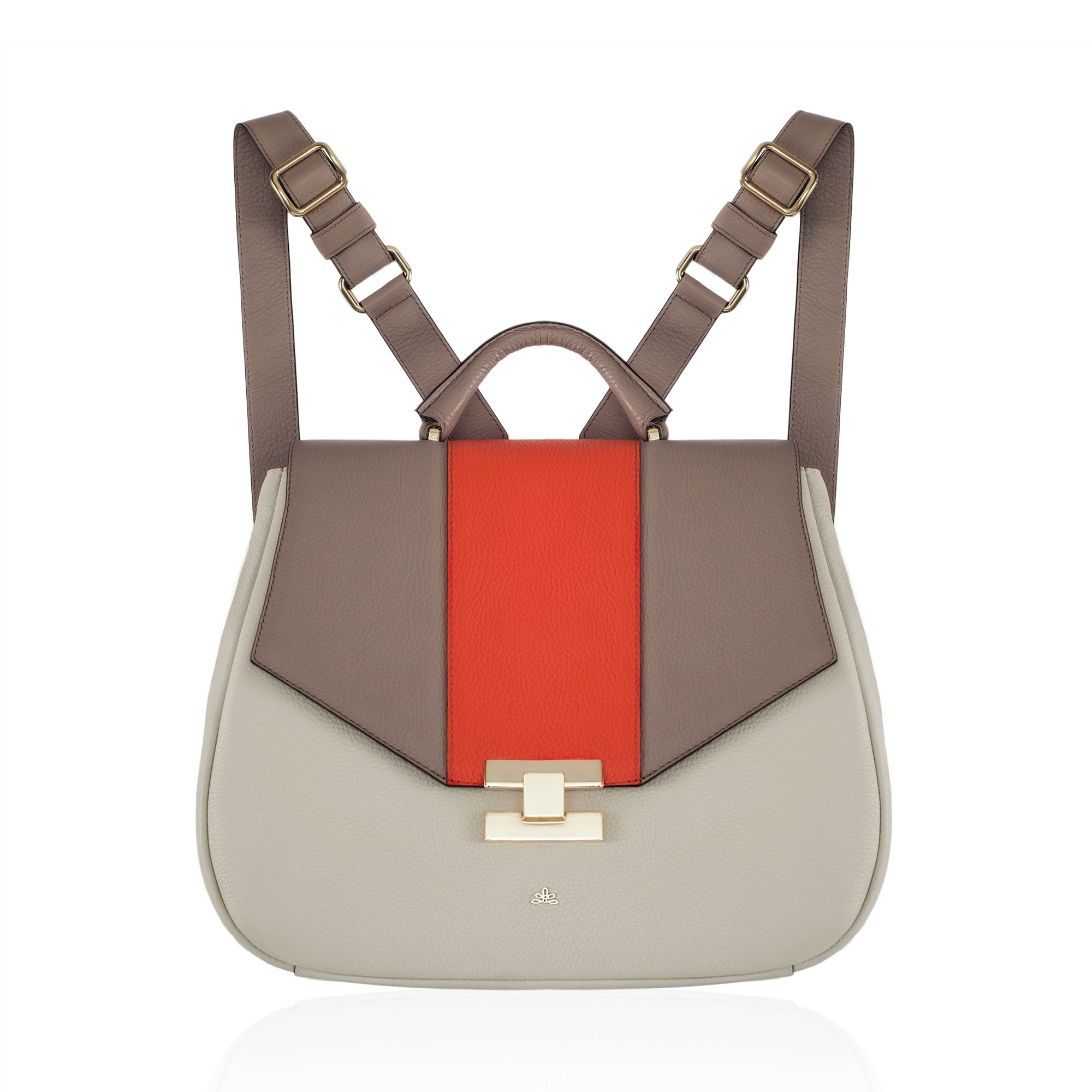 Milli Millu - The Sydney - Taupe & Coral - The ultimate leather ...