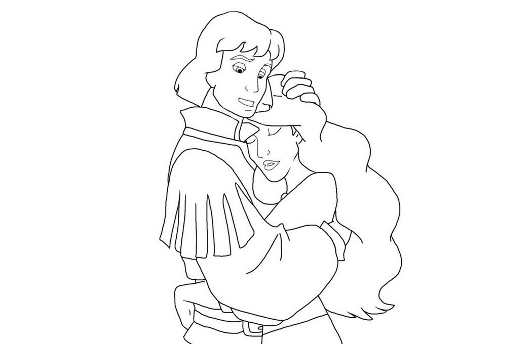 Odette Swan Princess Coloring Page The Swan Princess Pinterest