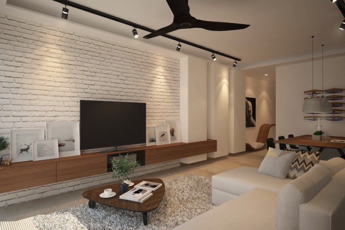 Tv console with feature wall google search home - Feature walls in living rooms ideas ...