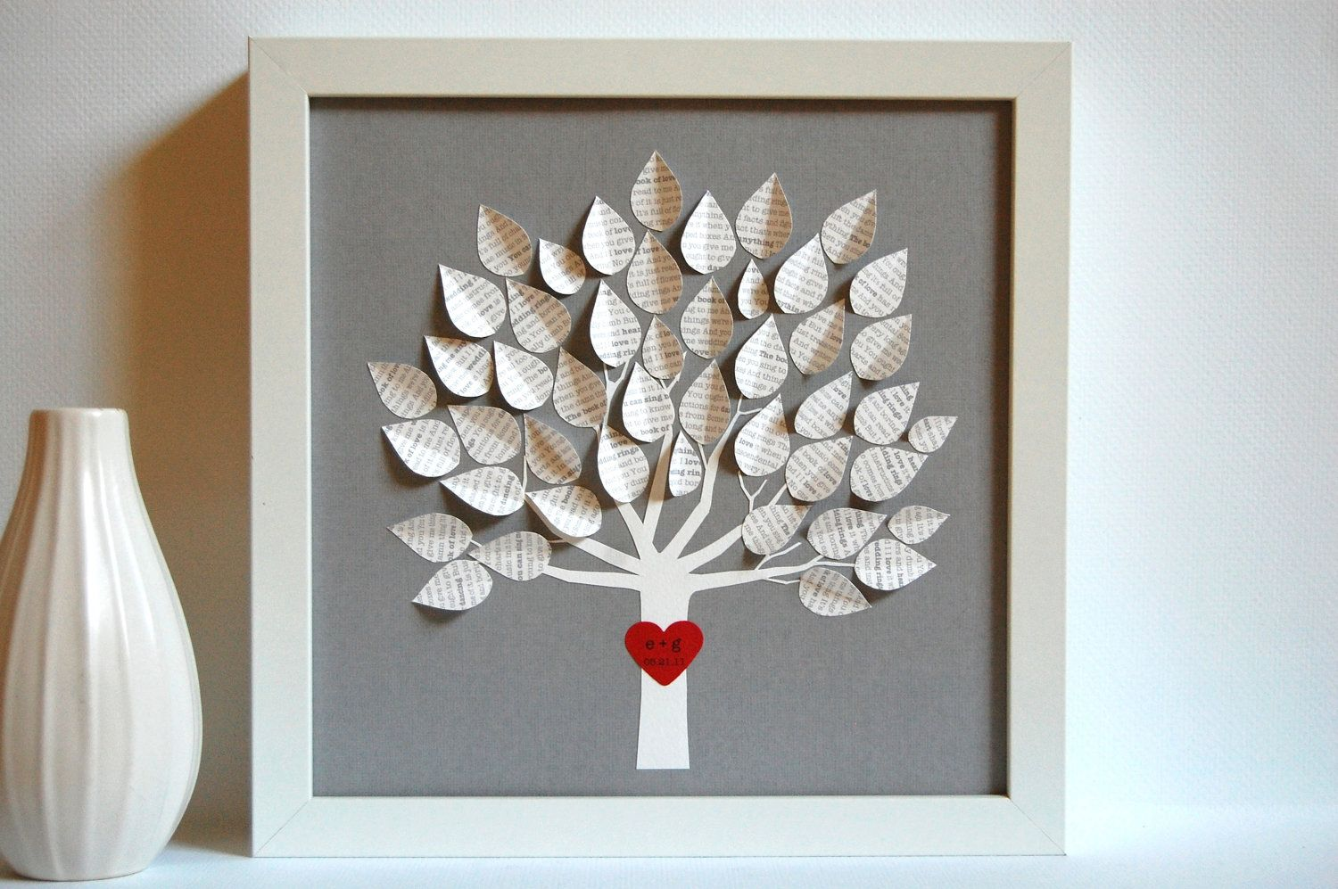 Wedding Gift Personalized Song Tree Gray Made By Suzype