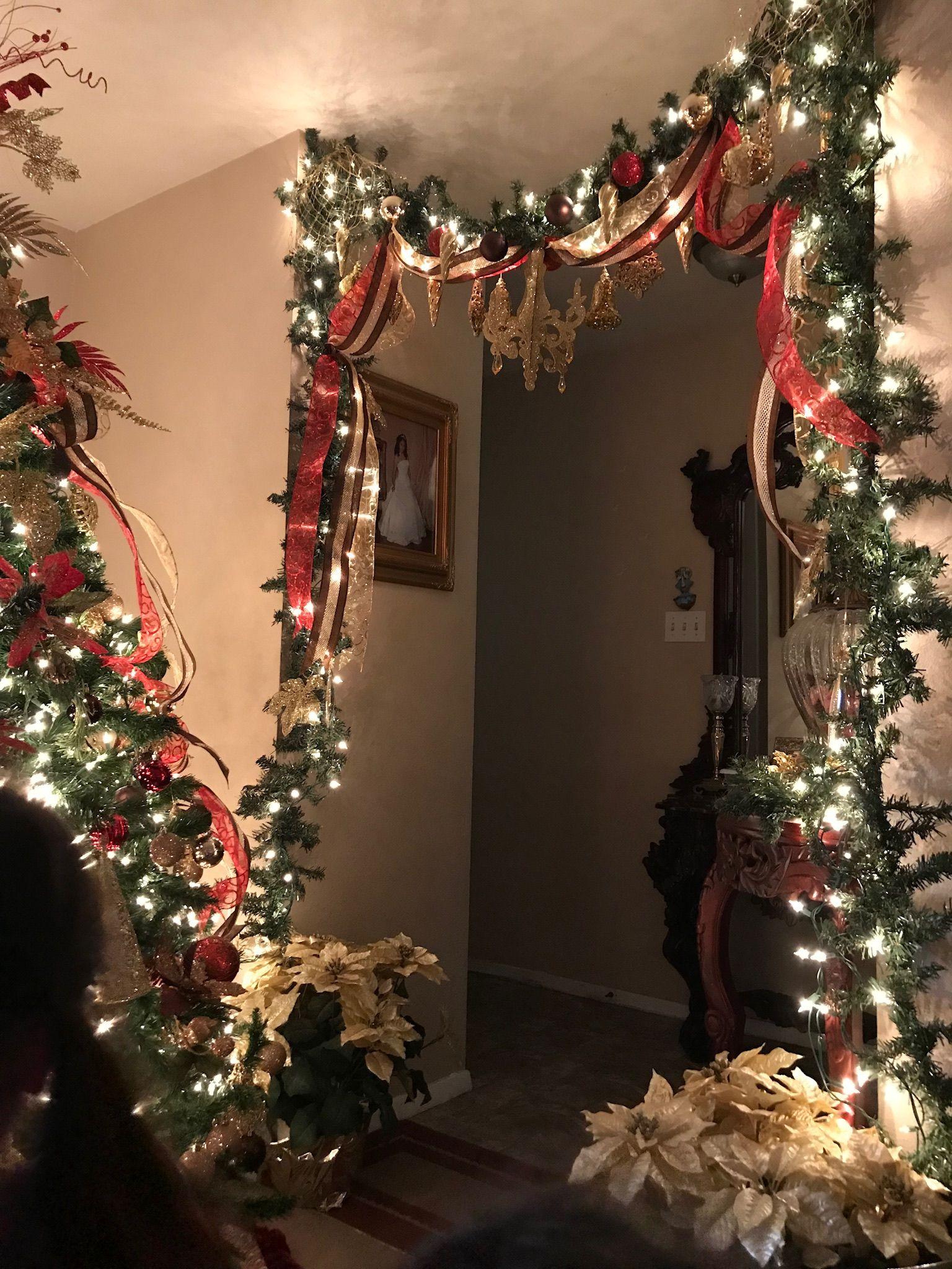 Christmas Garland Christmas Decor Reds Golds And Chocolates