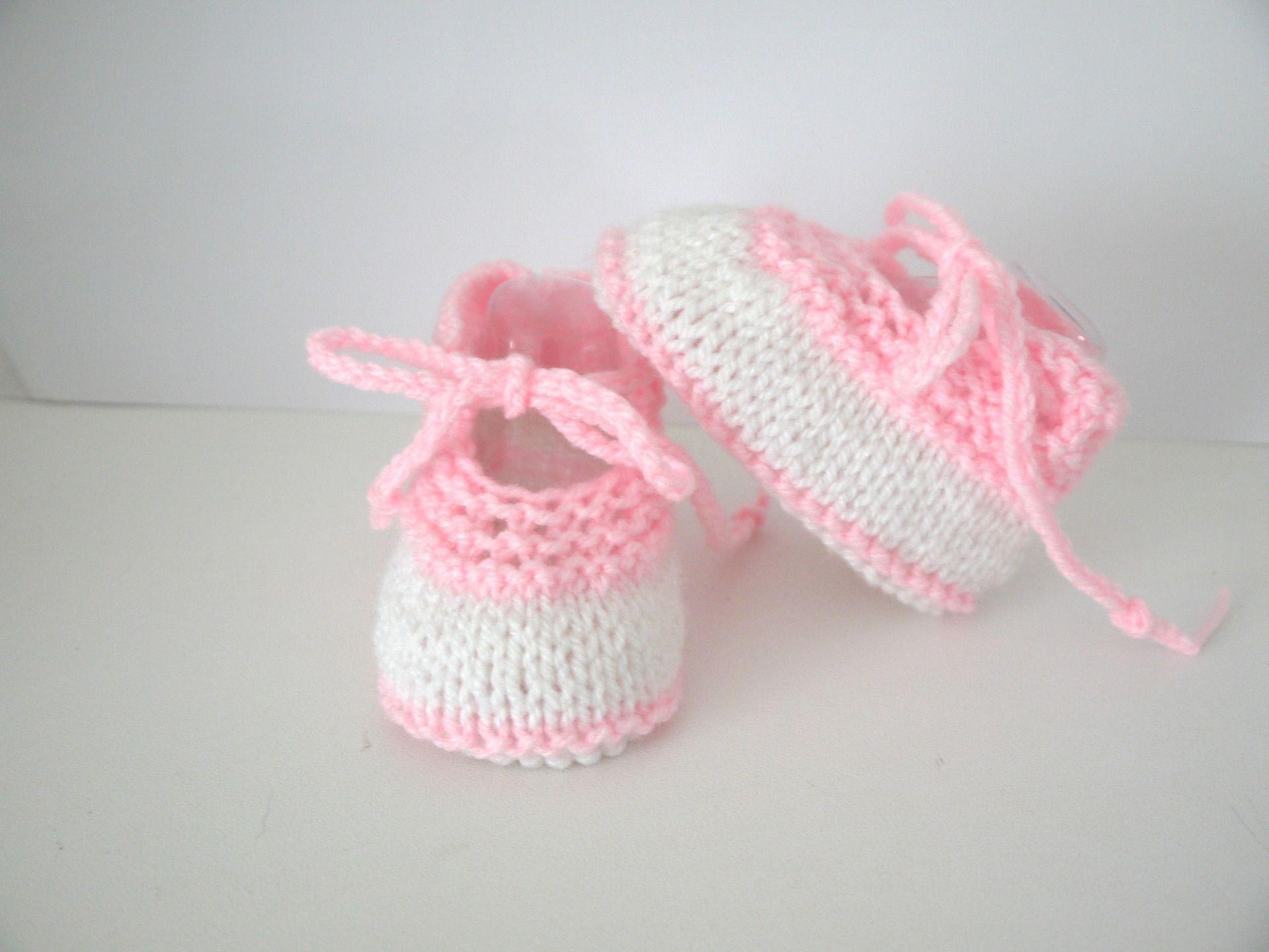 Crochet Bébé Chaussons Rose Clair 0-3