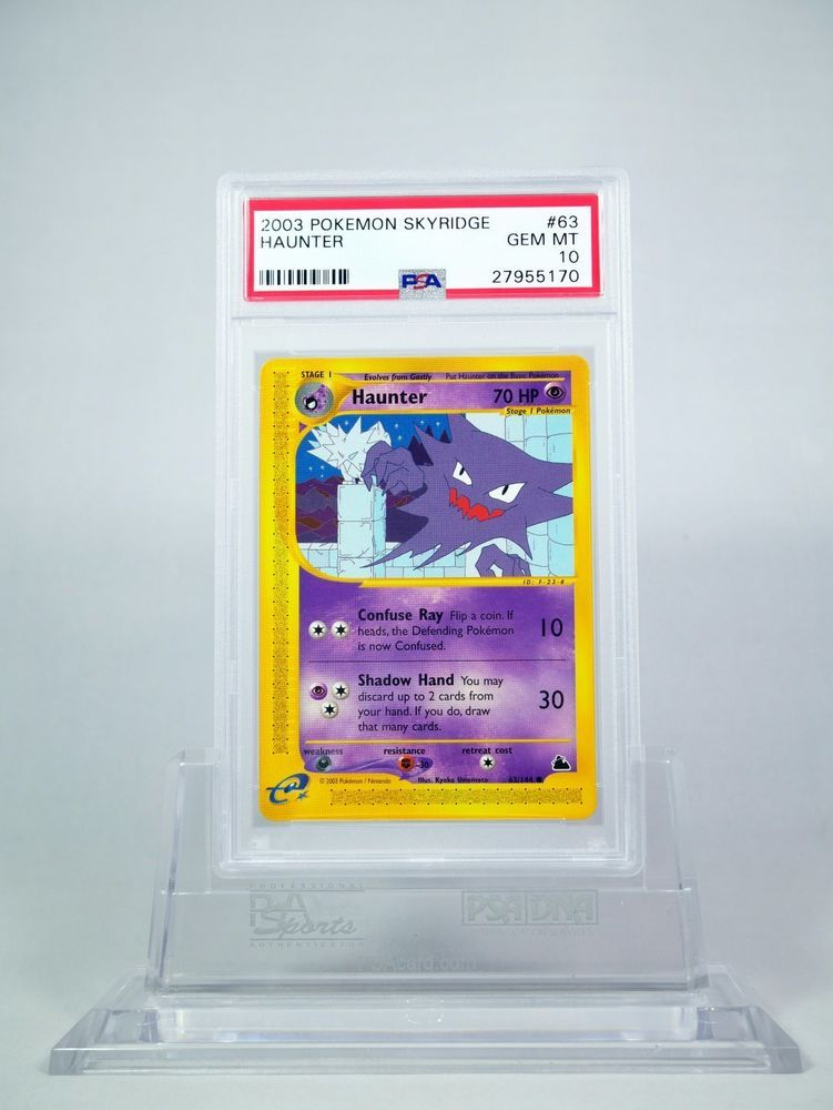 PSA 10 GEM MINT Haunter Non Holo Pokemon Skyridge #63/147 #Pokemon