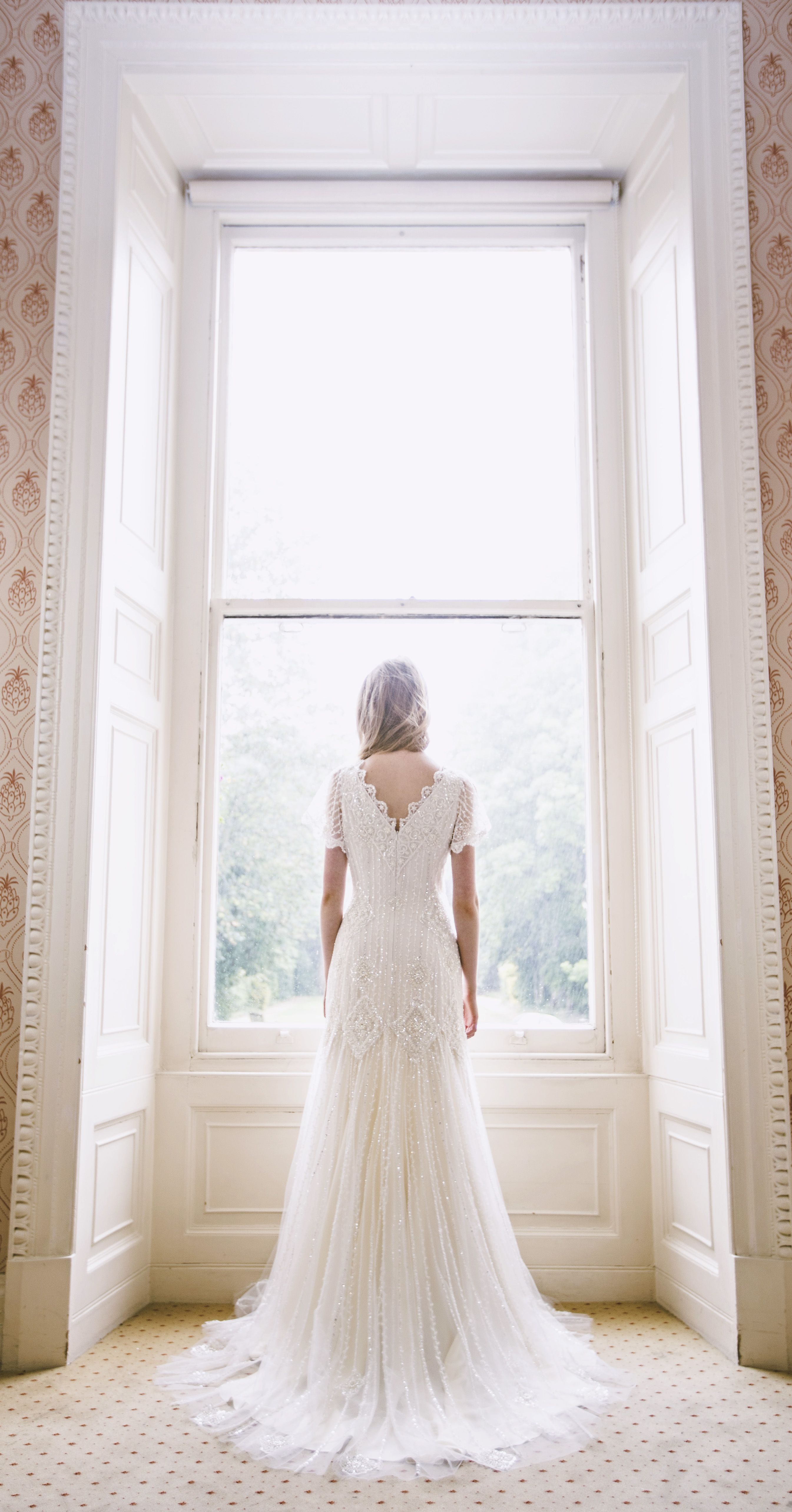 Beaded wedding dress by Mishi May. bridal couture. hand made in ...