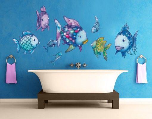 Trend Wandtattoo Kinderzimmer Der Regenbogenfisch Unterwasserparadies Sticker Set