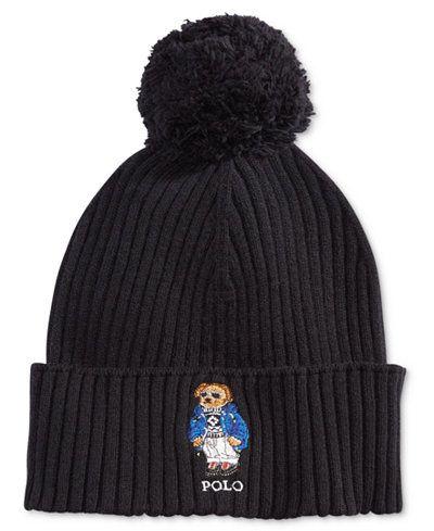 d5f11bb6a1e Polo Ralph Lauren Men s Ski Bear Pom-Pom Hat