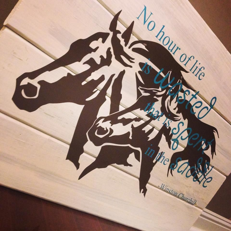 Diy wooden wall art and vinyls whitewashed simplysaid horse