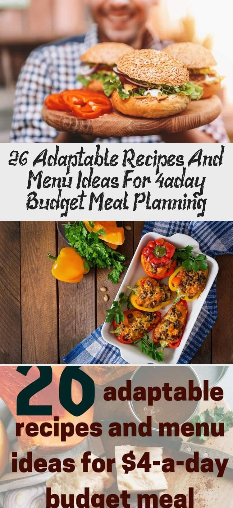 26 Adaptable Recipes And Menu Ideas For 4aday Budget Meal Planning  Pinokyo  26 adaptable recipes and menu ideas for 4aday budget meal planning  Living On The Cheap