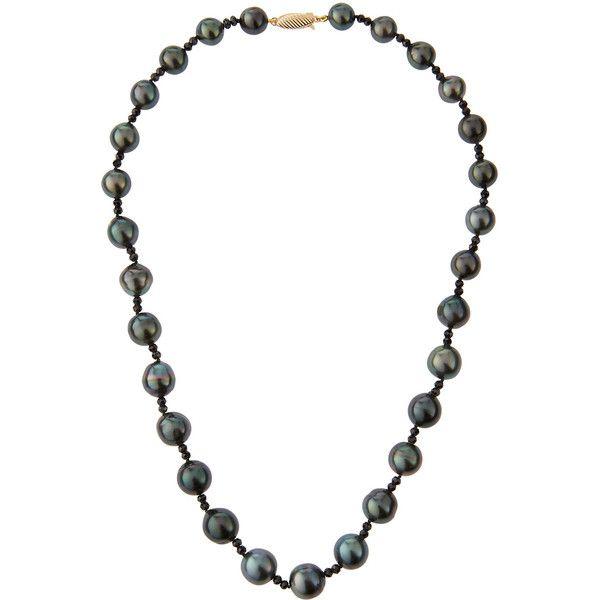 Belpearl Tahitian Black Pearl & Spinel Necklace 8B9S4W