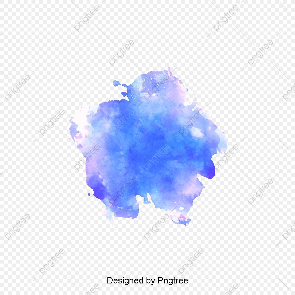 Azul De Cielo De Acuarela Graffiti Vector De Material Blooming
