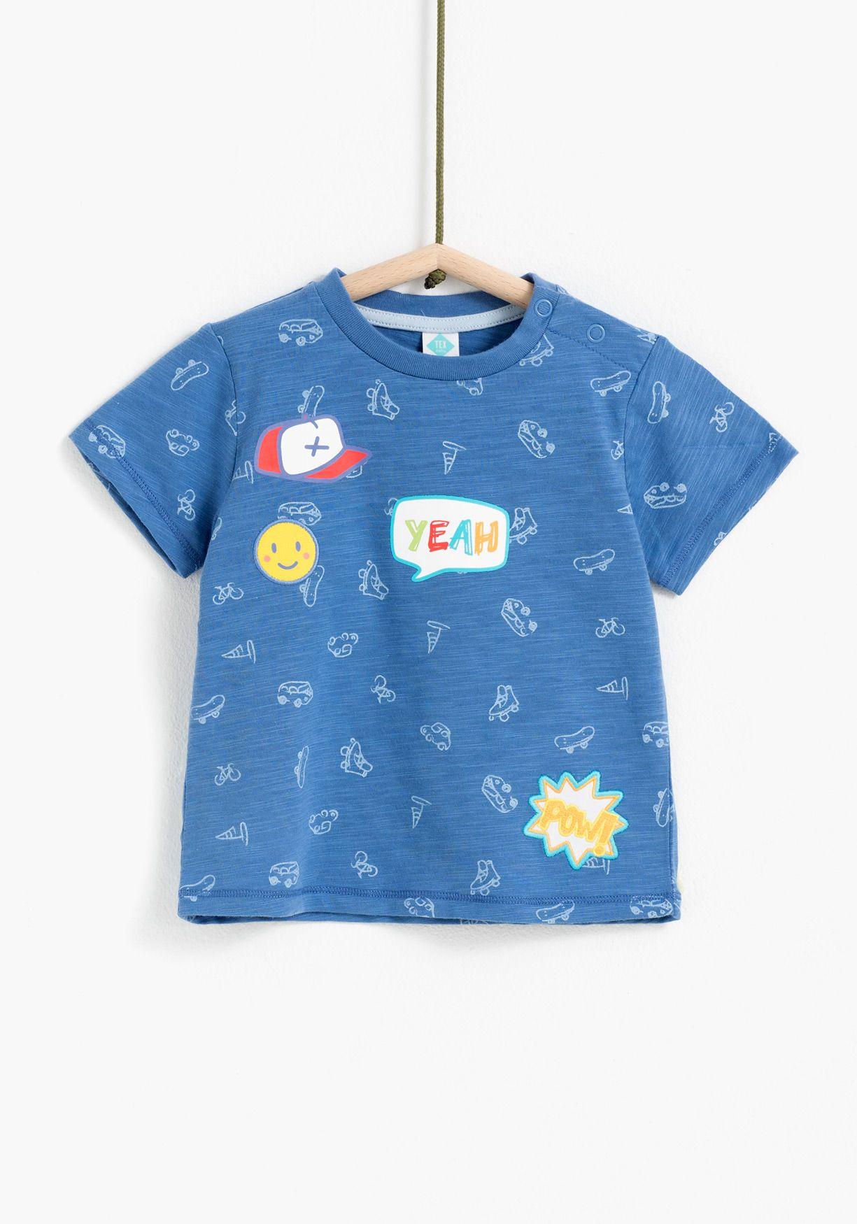Camiseta De Manga Corta Para Nino Con Estampado De Parches Disenado En Espana Algodon 100 Ropa Para Bebe Varones Ropa De Bebe Varon Estilo Infantil