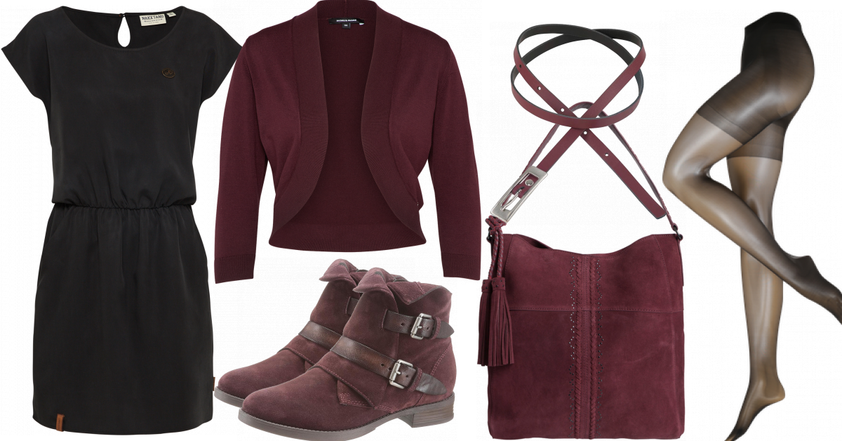 Rotwein Outfit - Freizeit Outfits bei FrauenOutfits.de