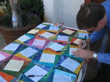 wedding quilt patterns that guests sign | Name ... : wedding quilts ideas - Adamdwight.com