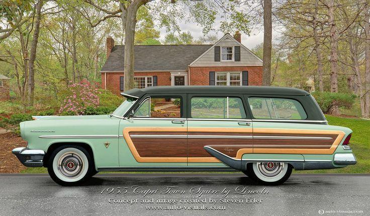 1955 Lincoln Capri Town Squire Station Wagon Station Wagon Cars Classic Cars Lincoln Cars
