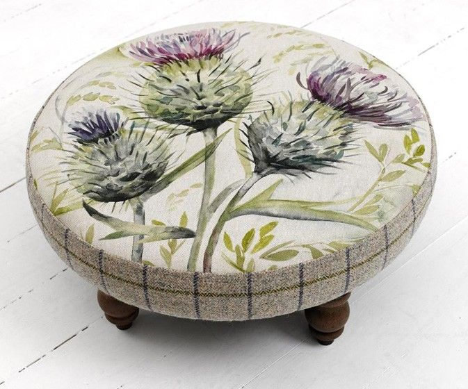 Cato Thistle Glen Foot Stool   Voyage Maison Furniture