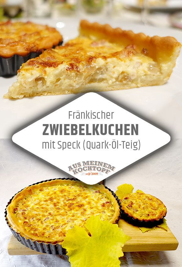 Photo of Franconian onion cake with bacon (quark oil dough)