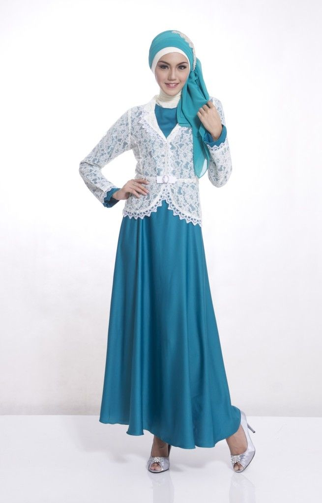 Gamis pesta jasmine turkis yang trendylook it here http - modern turkis