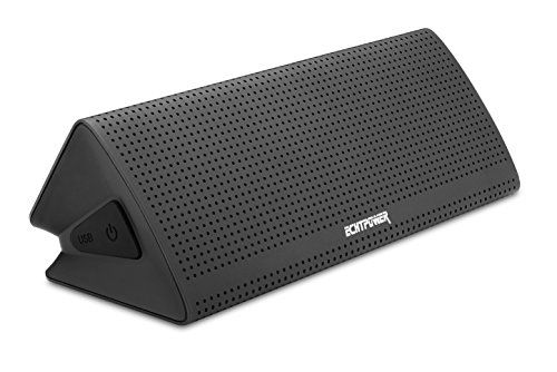 Cheap ECHTPower Aluminium Stereo Wireless NFC Bluetooth 4.0 Speaker 10W Output from TWO 5W Driver 8-hour Playtime Portable Bluetooth Speaker for iPhone iPad Samsung Nexus HTC and More Best Selling