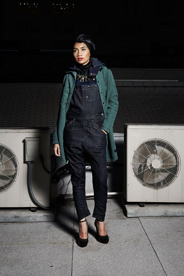 Yuna is wearing the Hunter 5620 Salopette and the Penrose ...