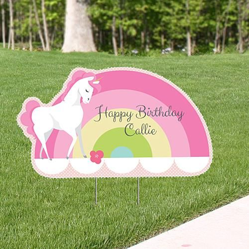 Unicorn Corex Yard Sign