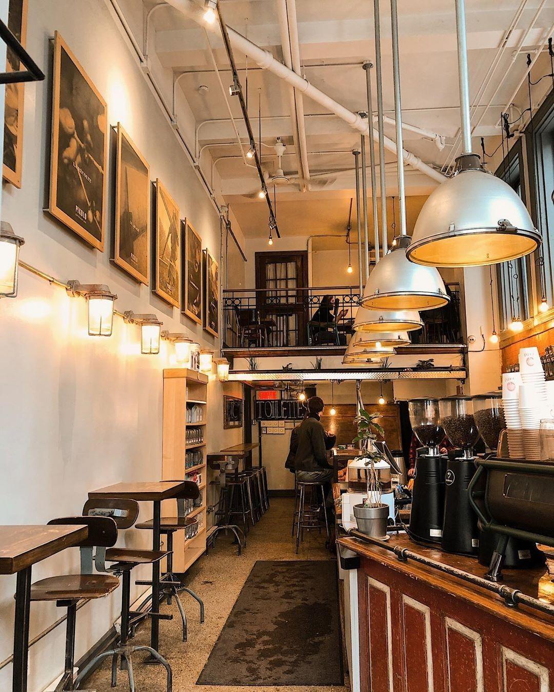 Pikolo Montreal Cozy Cafe Interior Espresso Bar Trendy Interior Design