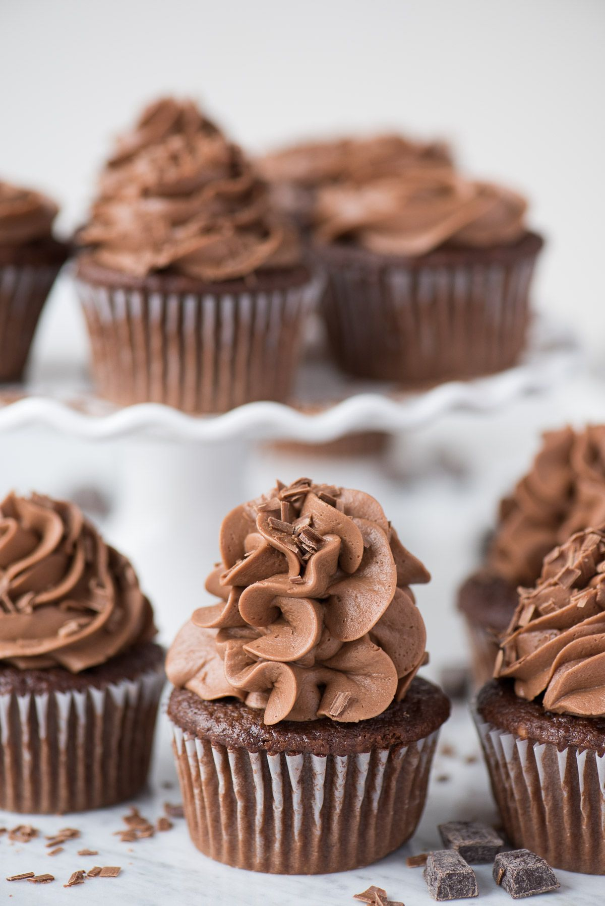 Bakery style doctored up chocolate cupcakes this is an