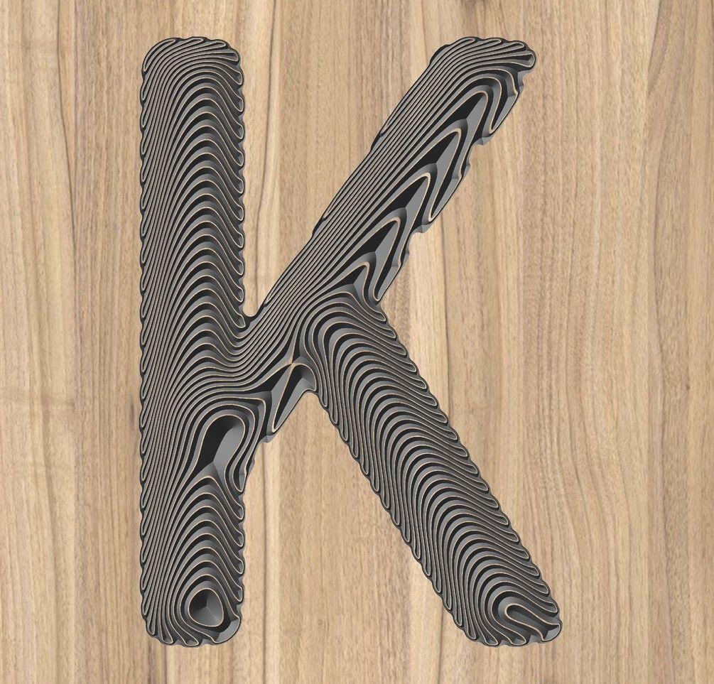 Kletter vector 3d floating wave effect Letter vector