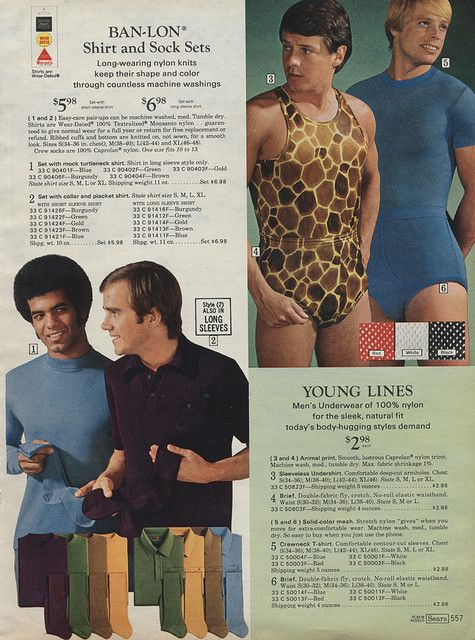 cd8e78956ae 1971 Sears Christmas Catalog. Men s leotards need to come back into fashion.