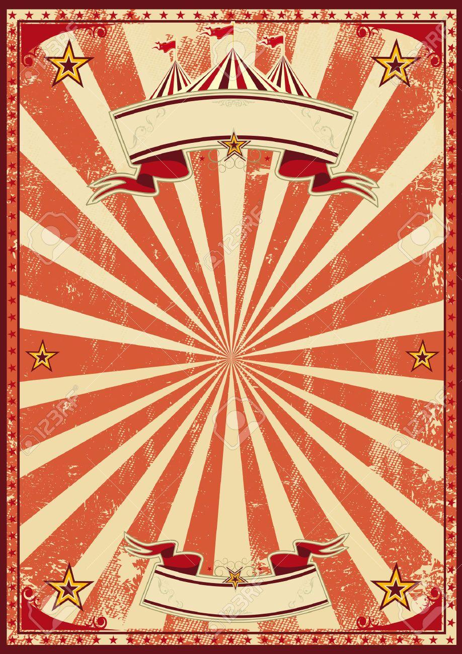 Vintage Carnival Border Red Circus Farrahs