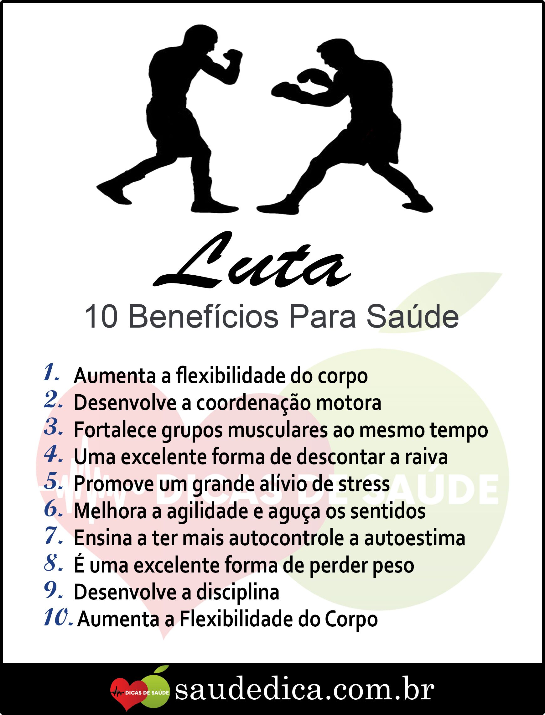 Os 10 Beneficios Da Luta Para Saude Beneficios Do Exercicio