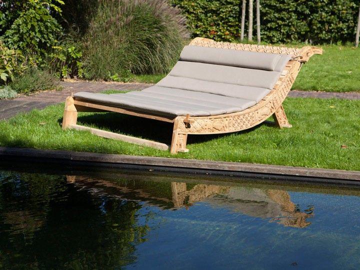 pinisi lounge gartenliege teak hochwertiges gartenmöbel von exotan, Terrassen ideen