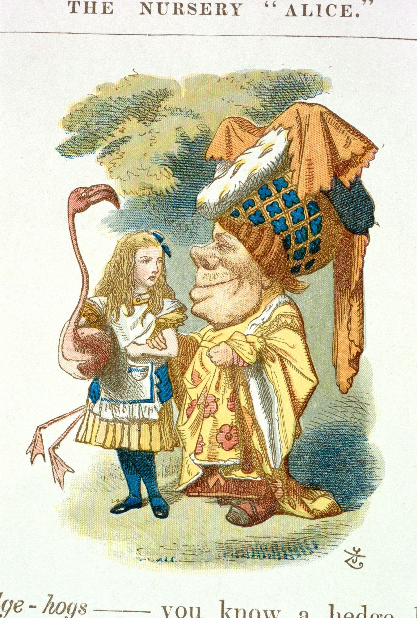 Alice In Wonderland w Duchess /& Baby Fabric Block 8x10