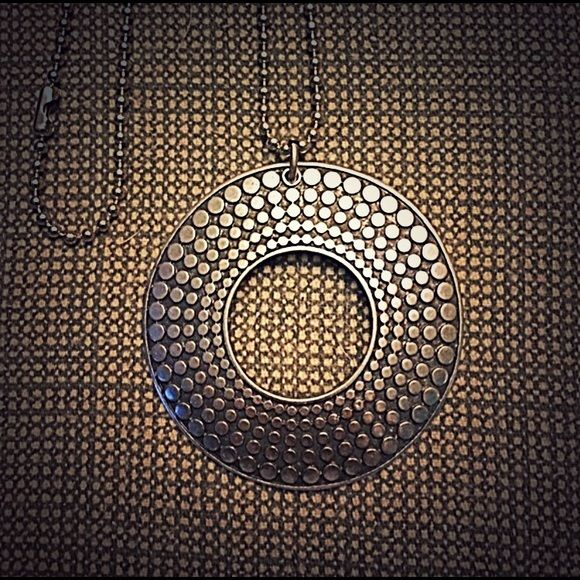 """Pendant with chain Chain is silver-tone and is about 11"""" in length. Pendant is 2"""". Jewelry Necklaces"""