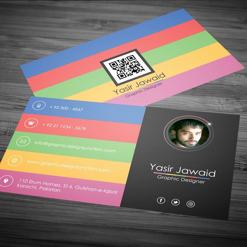Visitenkarte Kostenlose Hintergrund Mit Visitenkarten Design