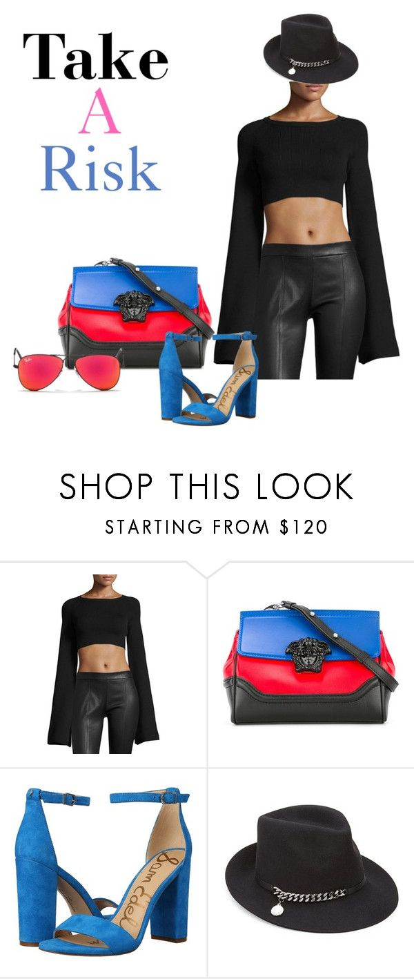 """Untitled #3003"" by sweetyincago ❤ liked on Polyvore featuring Puma, Versace, Sam Edelman, STELLA McCARTNEY and Ray-Ban"