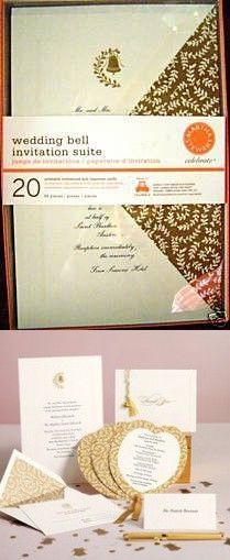 Martha Stewart Wedding Bell Invitation Suite Set Of 20 Invitations