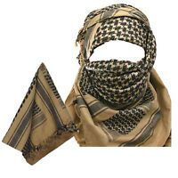 LIGHT BROWN//BROWN ARABIC MILITARY ARMY SAS RETRO DESERT COTTON SHEMAGH SCARF