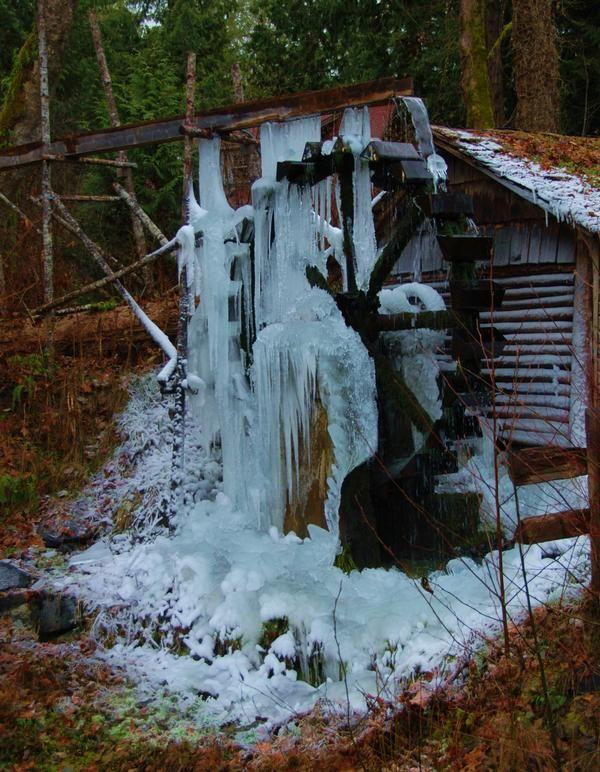 Old Water Wheel on the Hood Canal, Belfair, Washington