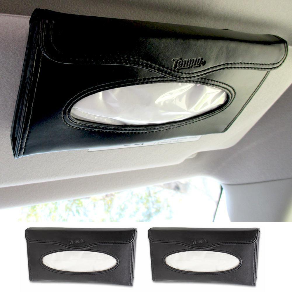 TEMPO CAR VISOR TISSUE KIT REFILLABLE DURABLE CASE FITS ANY VISOR NEW IN BOX