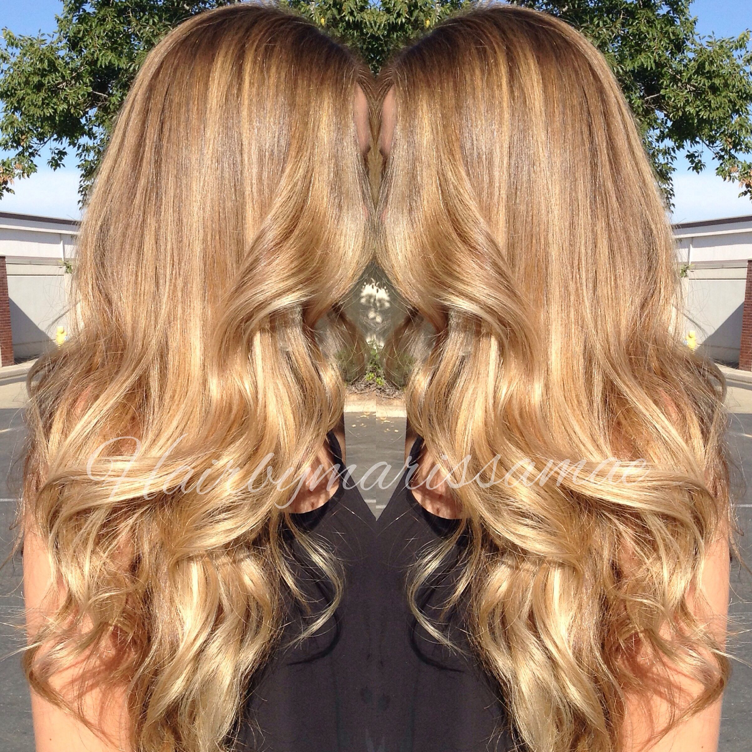 Soft Golden Blonde Balayage Highlights My Work Pinterest